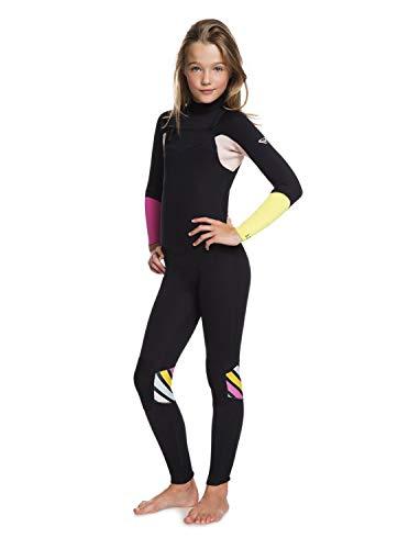 Roxy Girls 3/2mm Pop Surf Chest Zip Wetsuit Black