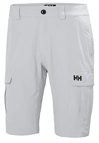Helly Hansen Herren Hh Qd Cargo Shorts 11 Jogginghose, Grey Fog, 36
