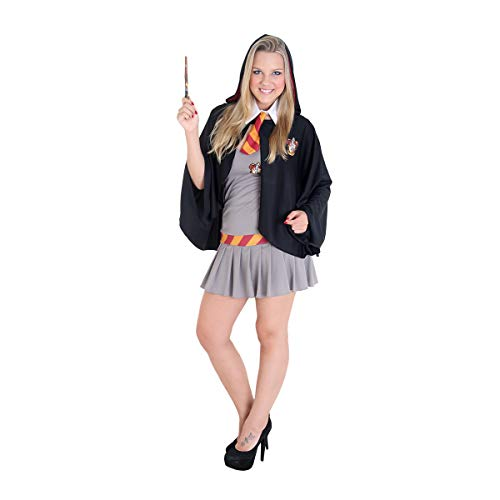 Fantasia Hermione Adulto - Heat Girls 960127-M, Cinza/Preto, Sulamericana Fantasias