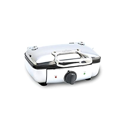 All-Clad 99011GT Stainless Steel Belgian Waffle Maker with 7 Browning Settings, 2-Square, Silver