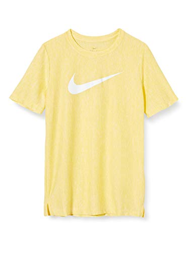 Nike Jungen B NK CORE SS PERF TOP Hthr T-Shirt, Speed Yellow/(White), M