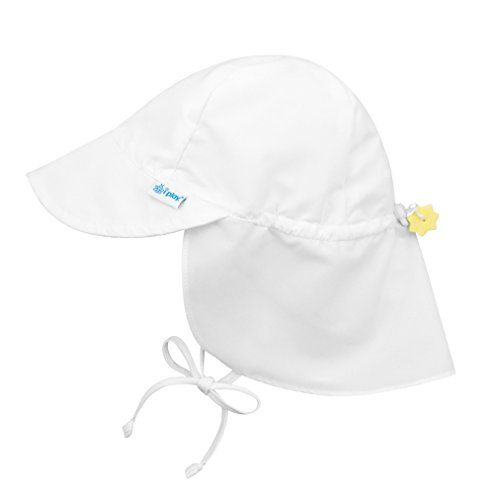 i play. Baby Flap Sun Protection Swim Hat, White, 9/18mo