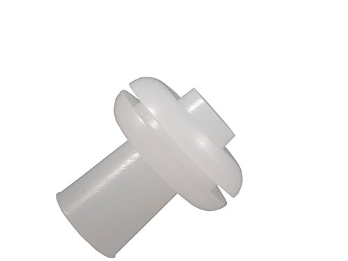 Homebrew Guys Fermentation Grommets Pack of 12. Food Grade BPA-Free White Silicone Rubber Complete with 12 Stoppers. Best for Airlocks, Fermenting in Jars and Buckets. 3/8' Center for 1/2' hole