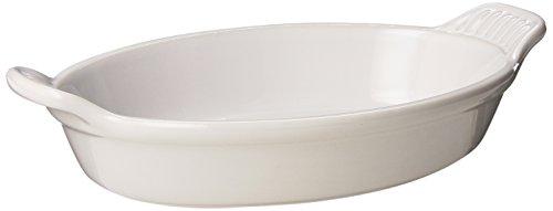 Le Creuset Heritage Stoneware Oval Au Gratin Dish, 24-Ounce, White