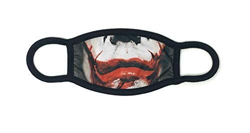 Dilara Maske mit Joker Mund aus Baumwolle - Baumwollmaske mit Aufdruck Gesicht in Schwarz (Joker Dark Knight)