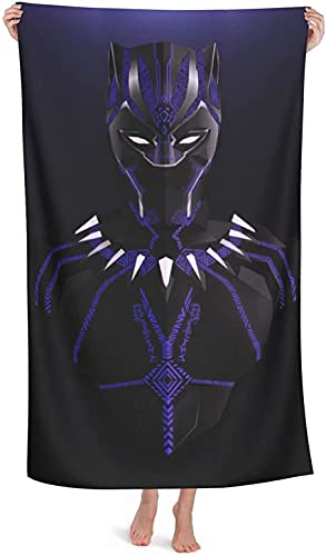 NBAOBAO Black Panther - Toalla de playa (80 x 130 cm, 100% microfibra Panther-2, 90 x 180 cm)