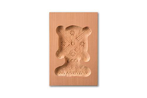 Spekulatiusform Windmühle, Holz Form Birnbaum, Spekulatius-Model für Anisgebäck, 8,5 x 6 cm
