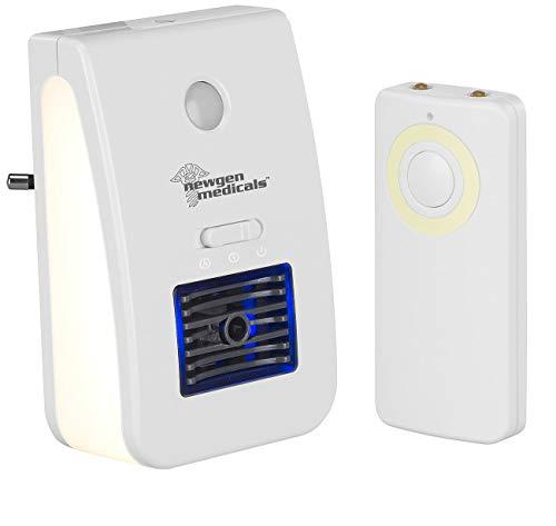 newgen medicals Nachtlicht Baby: 2in1-Ionisator-Luftreiniger & Nachtlicht, Fernbedienung, Timer, 20 m² (Baby-Nachtlicht Steckdose)