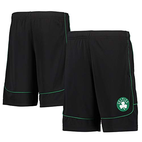 NBA Youth 8-20 Primary Logo Performance Boomin Out Shorts (Boson Celtics Black, Large)