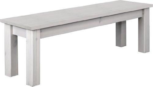 Steens Monaco Sitzbank, 140 x 45 x 40 cm (B/H/T), Kiefer massiv, weiß