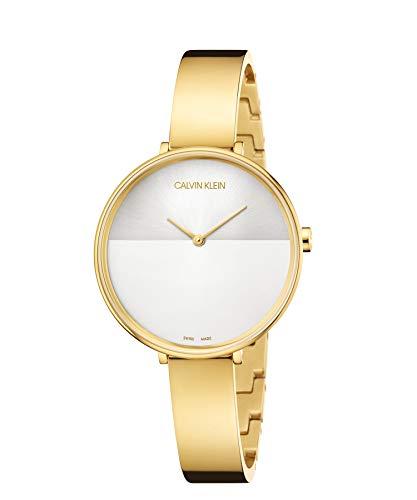 Calvin Klein Unisex Erwachsene Analog-Digital Quarz Uhr mit Edelstahl Armband K7A23546
