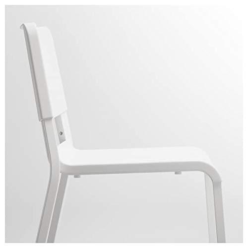 Tok Mark Traders TEODORES - Silla, color blanco, 46 x 54 x 80 cm, resistente y fácil de cuidar, sillas de comedor, sillas, muebles ecológicos