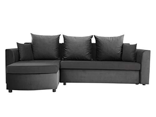 Mirjan24 Ecksofa Simple Plus, Eckcouch mit Schlaffunktion und Bettkasten, Sofa für Wohnzimmer, Polstersofa, Farbauswahl, L-Form Couch, Top-Qualität Wohnlandschaft (Alova 36 + Alova 10 + Alova 36)