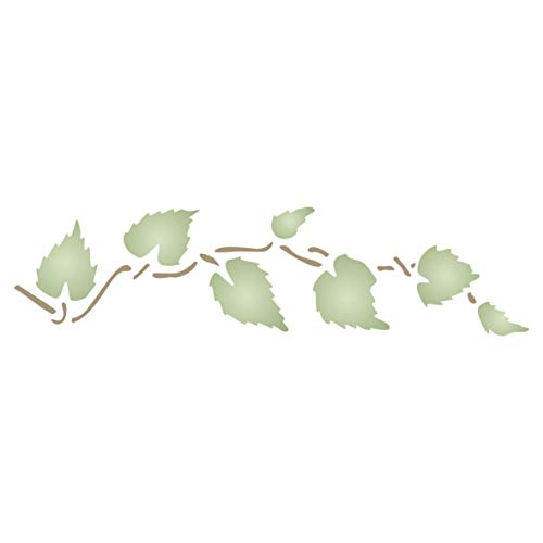 Leaves Stencil, 6.5 x 1.5 inch - Leaf Border Wall Art Decor Stencils for Painting Template