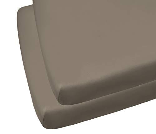 2 sábanas bajeras para cuna. gris Talla:70 x 140 cm