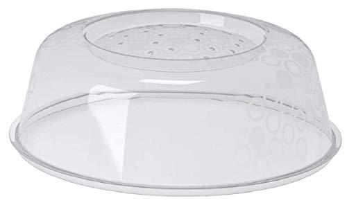 Ikea PRICKIG Mikrowellendeckel-Abdeckung mit Lüftungsschlitzen für perfektes Aufwärmen, transparent, 3 Stück