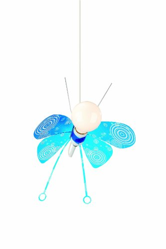 Philips - 402805510 - Plafonnier - Butterfly Pendant Mixed - 1 x 25 W - E27-230 V - Bleu
