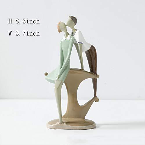 Résine de statues,Décor d'art extérieur intérieur Ornements de décoration à la Maison Art Home Decor Ornements de résine Décoratif de Table-Statue 8.3pouce
