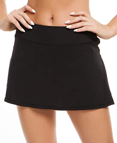 QUEENIEKE Damen Ultra Rock mit sportlichen Shorts Gym Sports Tennis Rock Farbe Schwarz Größe S(4/6)