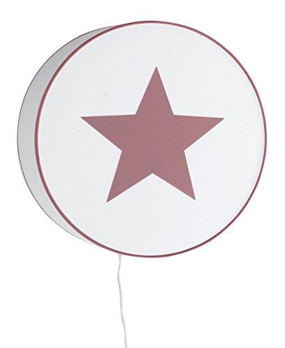 Alondra Notte Lámpara Bebé de Pared E27, 20 W, Rosa Empolvado, 40 x 15 cm