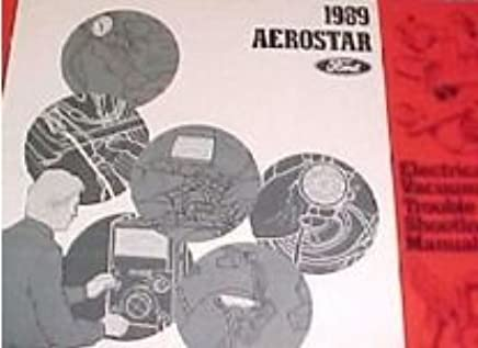 1989 FORD AEROSTAR Electrical Wiring Diagrams Service Shop ... Ac Wiring Diagram Ford on