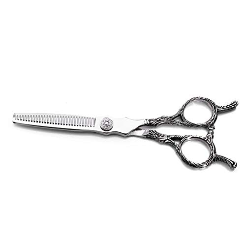 BATQER Tijeras, Tijeras de peluquería Profesional, Tijeras Planas y Tijeras de Dientes, Conjunto de Tijeras de peluquería,20% to The Hair Trimmer