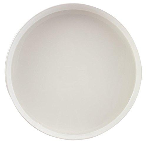 Serviertablett Durchmesser 32 cm rund rutschfest (Weiß)