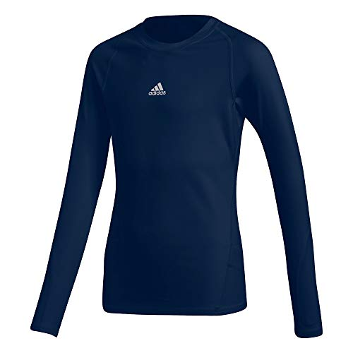 adidas Kinder Alphaskin Longsleeve Funktions Shirt, Dark Blue, 164