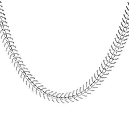 HJURTB Moda de Moda Collar de Gargantilla de Tatuaje de Hueso de Pescado para Mujer Collar Corto Vintage Cadenas Collares Playa de Verano nuevos Regalos