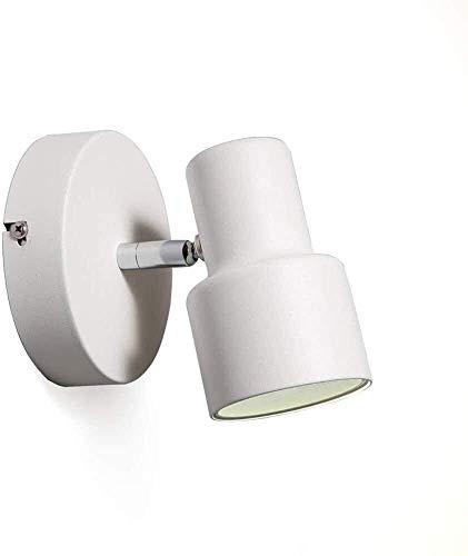 NZDY Soporte de Luz Soporte de Iluminación Luces de Soporte Led Simples Y Modernas Proyector de Techo Lámpara de Lectura de Cabecera Restaurante Ajustable Fondo de Tv Pasillo de Pared Personalidad Cr