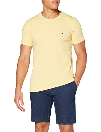 Tommy Hilfiger Herren Stretch Slim Fit Tee Hemd, Yellow, L