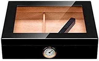 HNaGRDMMP Cigar Accessories Cigar Box Smoking Set Cedar Wood Lining Glass Skylight Can Accommodate 15 Cigars Cigar Cabinet...