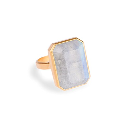 Ringly - Bluetooth Smart Ring- Gold / Rainbow Moonstone - (Previous...