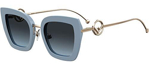 FENDI Gafas de Sol F IS FF 0408/S Blue/Grey Blue Shaded 51/24/140 mujer