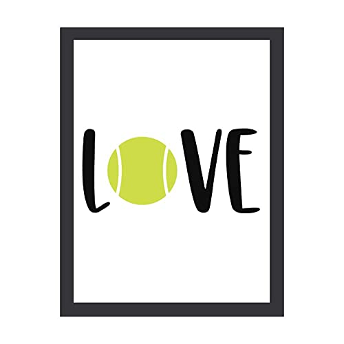 Decorazione da parete, 30,5 cm x 40,6 cm, Tennis, Tennis Love, Tennis Ball, Tennis Mom, Tennis Sign, Wall Decor Poster Inspirational Citazione motivazionale Wall Art Print Classy Vintage Wall Decor