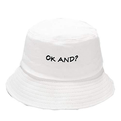 Janly Clearance Sale Sombrero, Sombrilla de impresión de moda para mujer, sombrero de pescador, sombrero de cuenca, sombrero de cubo al aire libre, descuento del día de San Patricio (tamaño libre)