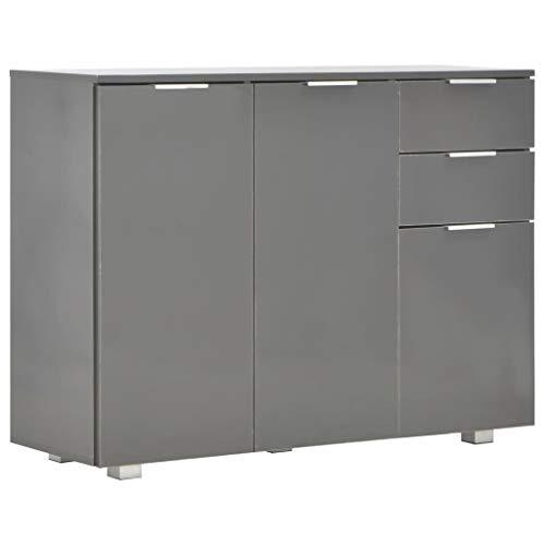 Tidyard Sideboard Kommode Schubladenschrank Schrank Lagerschrank Mit 2 Schubladen und 3 Türen,Highboard Mehrzweckschrank Küchenschrank Anrichte Esszimmerschrank 107 x 35 x 76 cm (B x T x H)