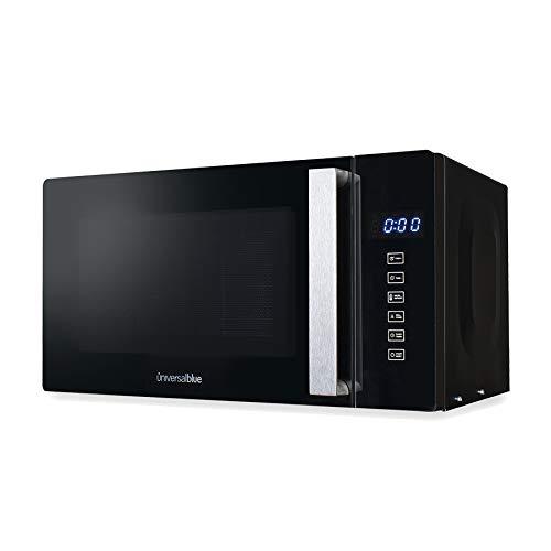 UNIVERSALBLUE - Microondas con Grill - Capacidad 20L - Cristal Negro - Potencia 700W