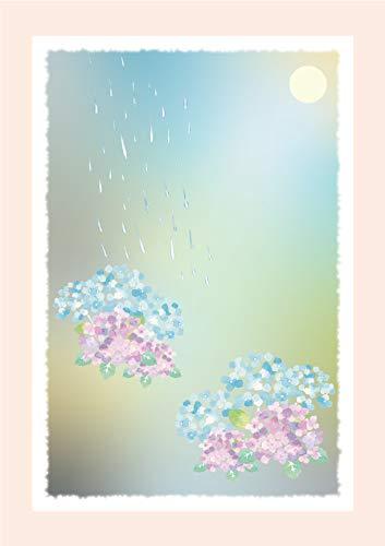 和柄絵はがき【紫陽花】( POSTCARD ) (サイズ:100 x 148mm 大礼紙厚口180k 厚み:0.26mm)日本製 (6)