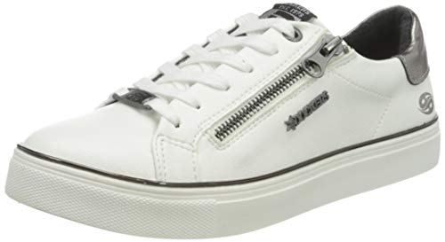 Dockers by Gerli Women's Low-Top Sneakers, Weiß, 5 Big Kid