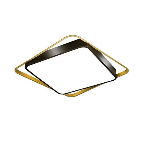 Lámpara de techo, diseño nórdico para dormitorio, simple y moderno, cuadrada, LED, iluminación [clase energética A ++] (color: luz cálida)