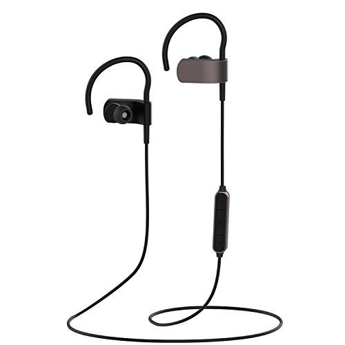 Yamay Auricular Bluetooth v4.1, Auriculares Inalámbricos para Deporte, Auriculares con Micrófono Incorporado y Cancelación de Ruido, Auriculares Estéreo HD, Manos Libres para Xiaomi y otros Smartphone