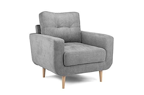 Honeypot - Sofa – Aurora – Ecke – 3-Sitzer – 2-Sitzer – Grauer Stoff (Sessel)