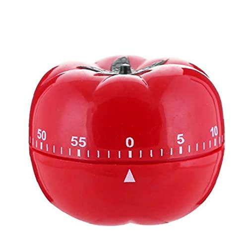 Temporizador de Tomate Temporizador de dibujos animados Cocinar Reloj despertador Cuenta regresiva Temporizador Mecánico Cocina Hornear Gadgets, Temporizador de forma de tomate