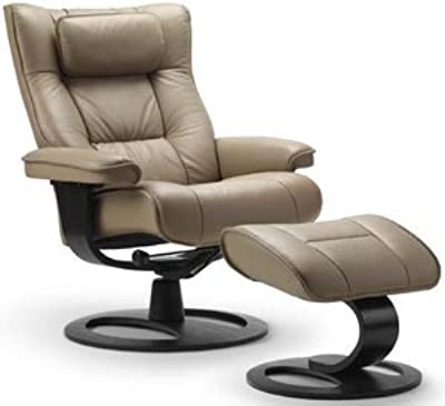 Brilliant Amazon Com Fjords Senator Large Leather Recliner And Gmtry Best Dining Table And Chair Ideas Images Gmtryco
