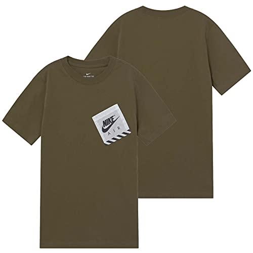 NIKE DH6565-222 B NSW tee RTLP Utility T-Shirt Boys Medium Olive L