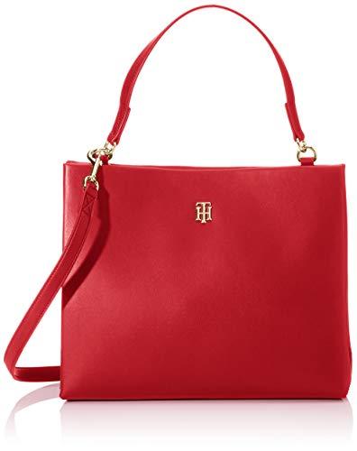 Tommy Hilfiger - Th Modern Satchel, Bolsos maletín Mujer, Rojo (Barbados Cherry),...