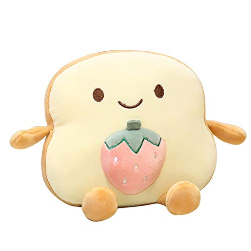 Kids Cute Plushies Toast Sliced Bread Pillow Food Pillow Plush Bread Pillow Stuffed Toy Stuffed Doll Stuffed Doll Toy for Home Decor (I)