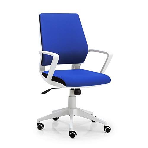Silla de Oficina CORVUS, Estructura Azul y Tensor de Control