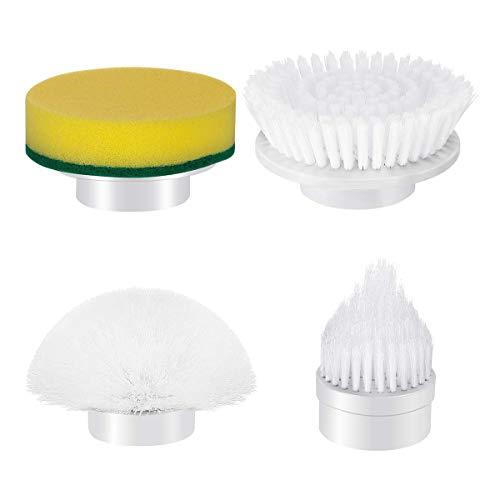 お風呂掃除ブラシ 電動お掃除ブラシ 替えブラシ 替えブラシバスポリッシャー替えブラシ 台所 浴槽 掃除に適用 4点セット
